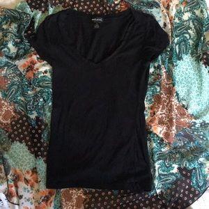 Wet Seal black V neck t-shirt